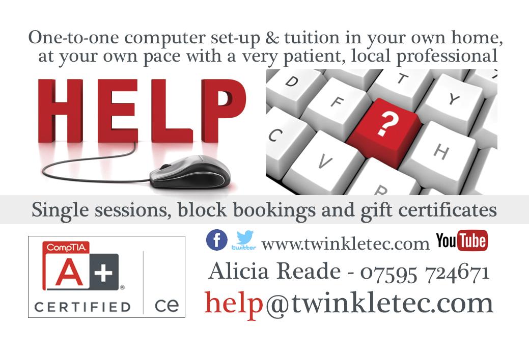Twinkle Tec Alicia Reade Business Card