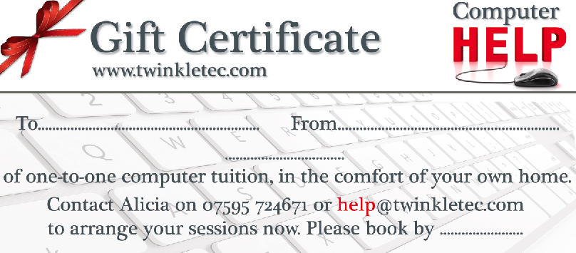 Twinkle Tec Gift Certificate, Doncaster