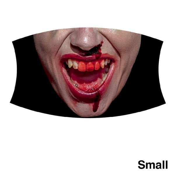 Woman blooded teeth, small
