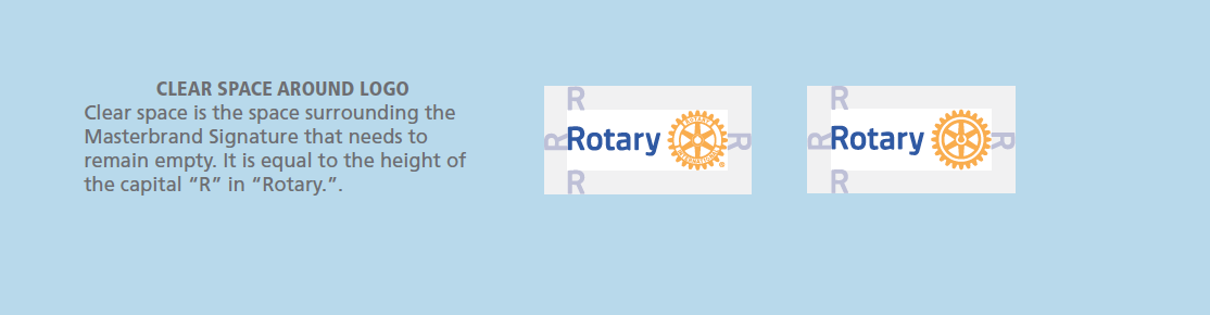 Clear Space around the Master Brand Logo, Rotary
